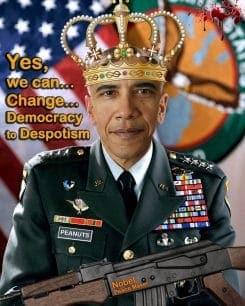 King Barack Hussein Obama II … Frieden schaffen mit noch mehr Waffen…