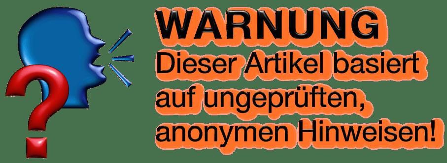 Warnung Hinweis anonym