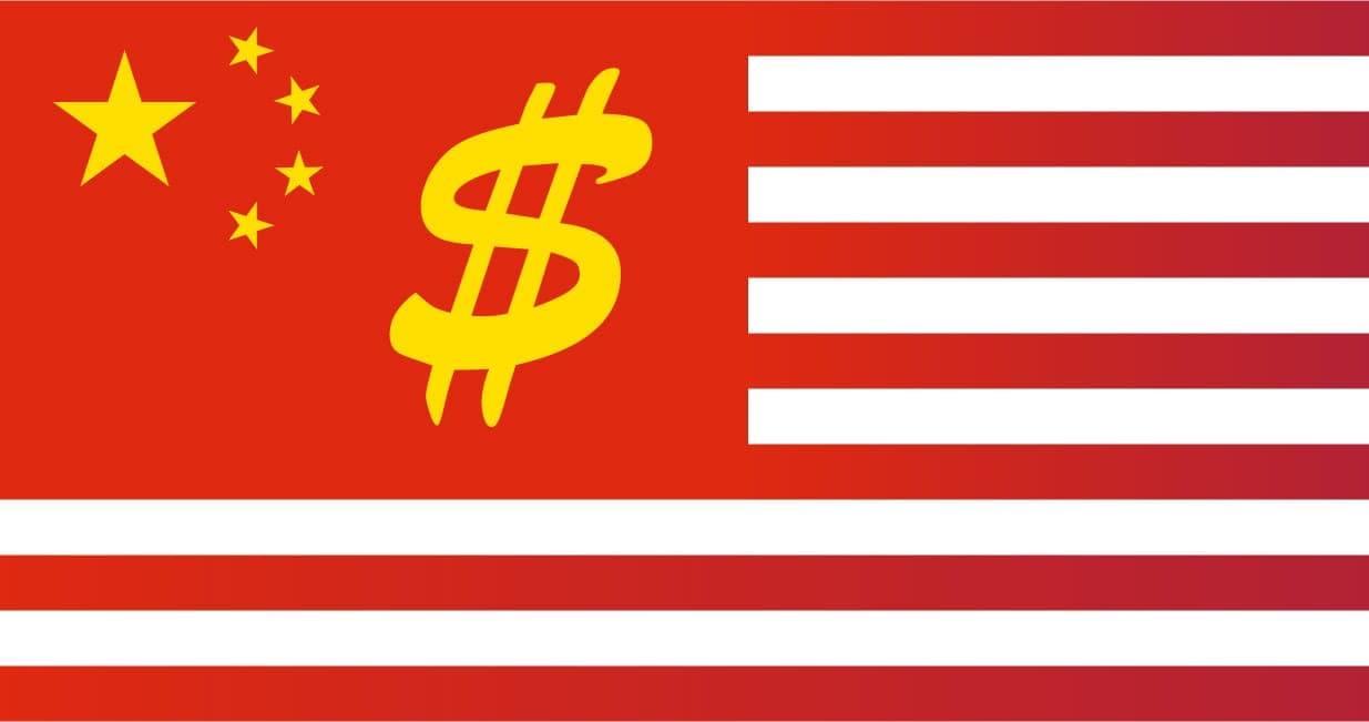 Flagge der Volksrepublik Chimerika … ehemals USA