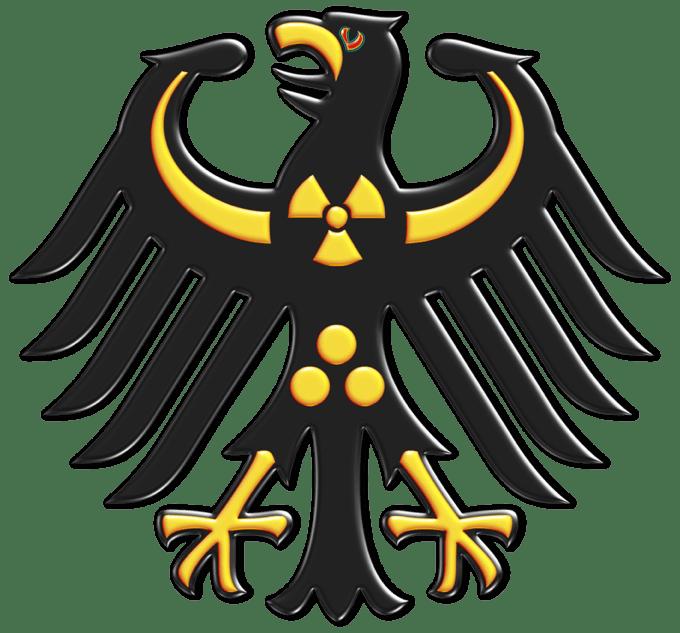 Regierung adler schwarz gelb