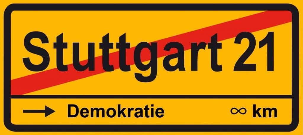 Stuttgart 21, muss Feudal-Demokratie heute noch sein Stuttgart 21 und der lange Weg zur Demokratie<br>Quelle des Ursprungsbildes: http://upload.wikimedia.org/wikipedia/commons/a/a9/Stuttgart_21_Ende.svg</small>