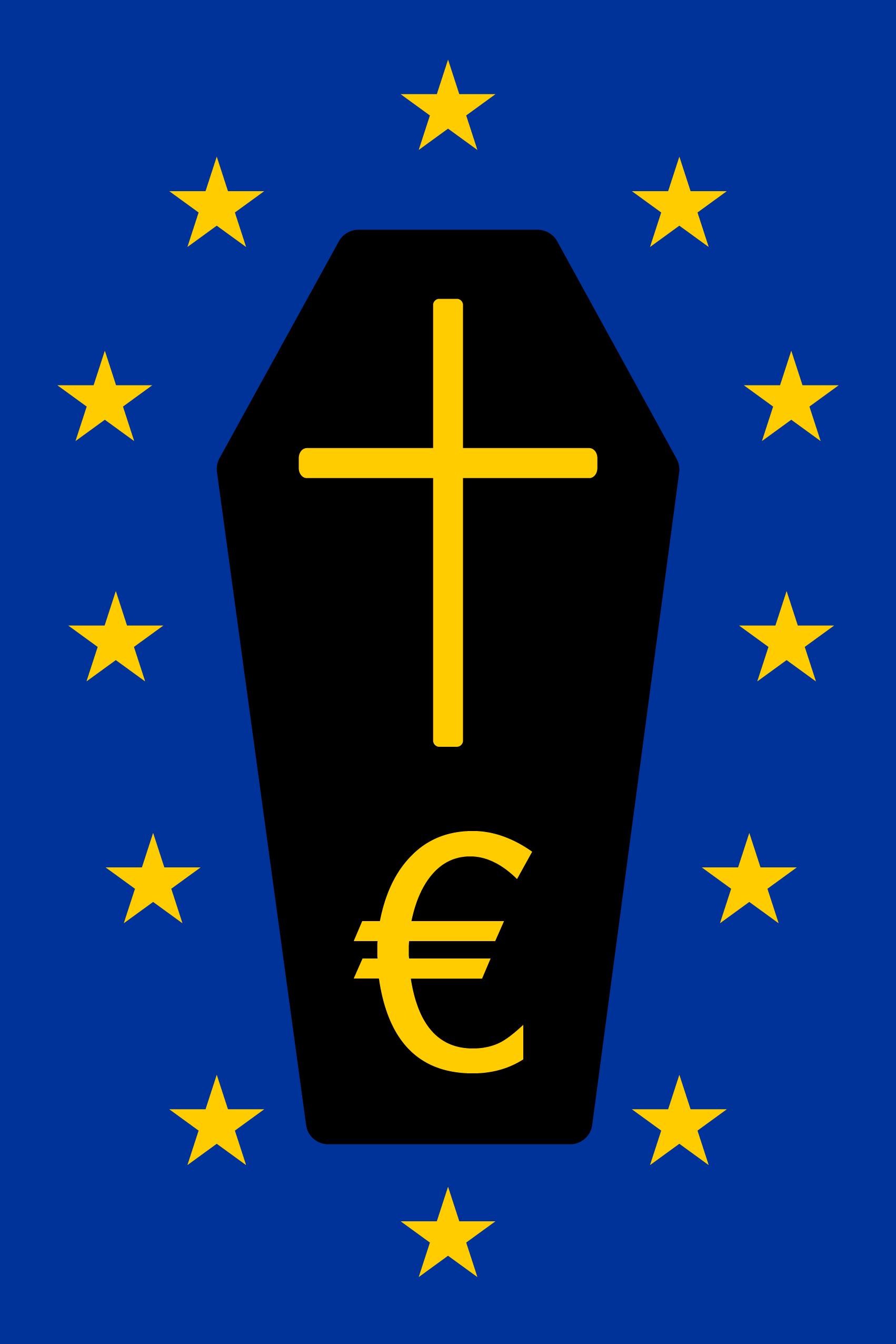 Europa unter neuer Flagge mit Trauerflor