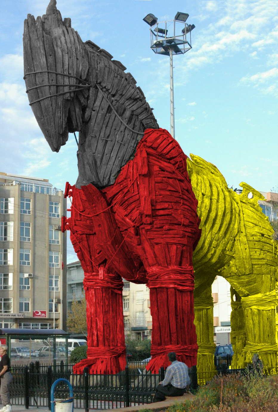 Trojaner Bundestrojaner Pferd