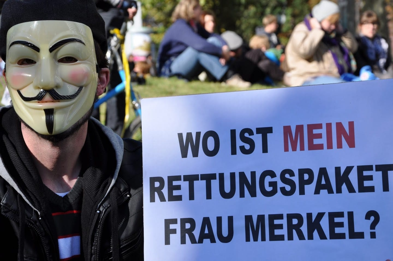 Occupy Bundestag Merkel