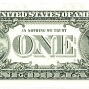one 1 dollar back in nothing we trust