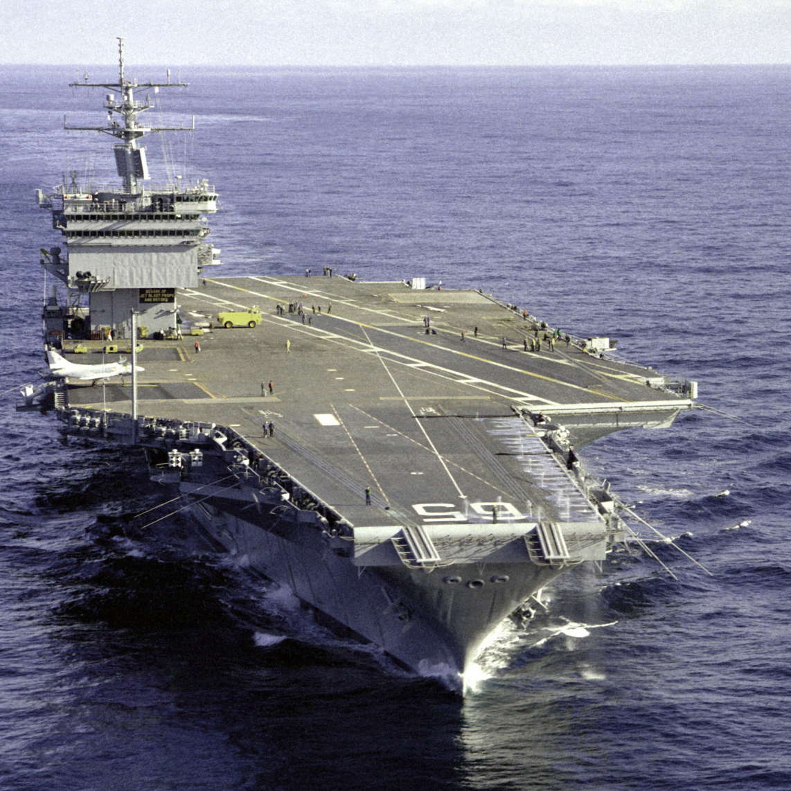USS_Enterprise_(CVN-65),_bow_view_1983