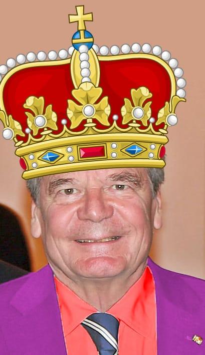 Joachim Gauck Inthronisierung Krone Ernennung