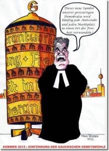Gauck'ler bringt Heiligen Schein nach Bellevue zurück Gaucks-Gebetsmuehle-von-Klaus-Petereit