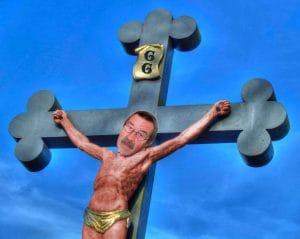 Sind christliche Kreuze menschenrechtswidrig PB221873 Kreuzigung des Guenter Grass