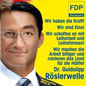 FDP Dschungel-Dreh-Buch: Mogli, Bambi und Balu fdp_arbeit_billiger_Philipp_Roesler_Roeslerwelle_guidolipp_guido_westerwelle