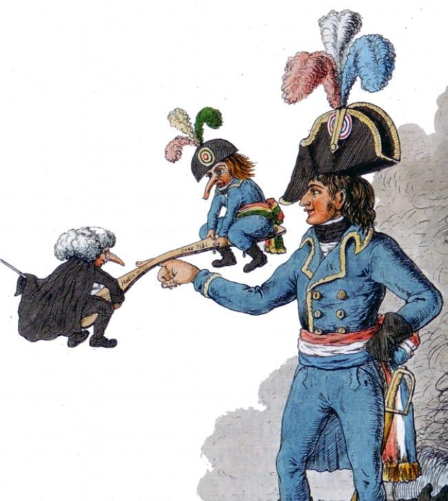 Karikatur Politische Schaukel teile und herrsche