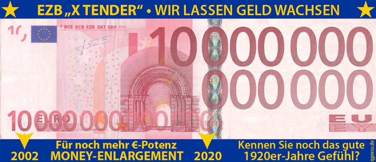 EZB plant Verlängerung der Geldscheine