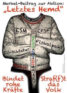 Aufrüstungsverhandlungen, NATO macht Druck für mehr Kriegsausgaben Zwangsjacke Modell Merkel qp