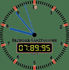 Dezimaler Kalender soll die Wirtschaft retten Neu Ganztagsuhr Dezimal trans qpress 150dpi