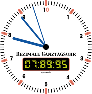 Neu Ganztagsuhr Dezimal trans qpress 150dpi