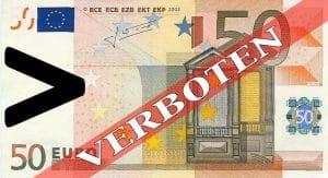 Geldkrieg in Italien, Bargeldverbot über 50 Euro ab 2013