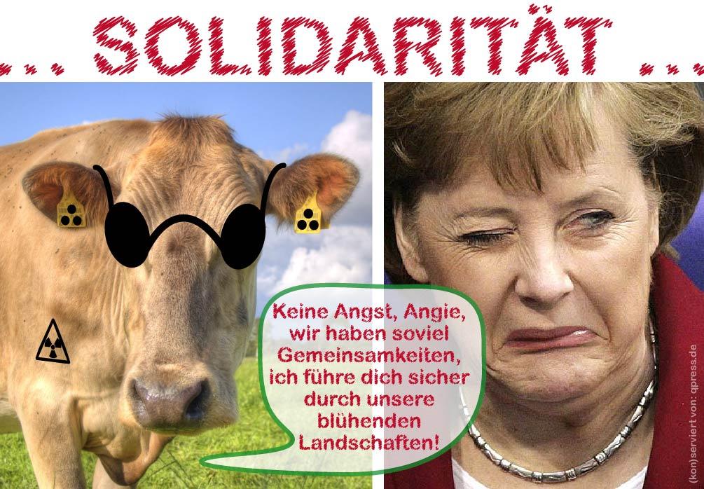 Solidaritaet Blinde Kuh Angela Merkel