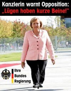 Merkel-Junta Warnung der Kanzlerin Merkel