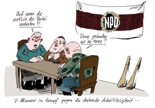stuttmann-karikaturen.de NPD Verbot V-Leuteim Streik