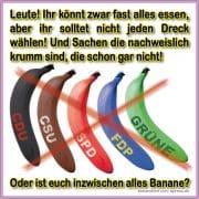 CDU CSU SPD FDP GRUENE alles Banane