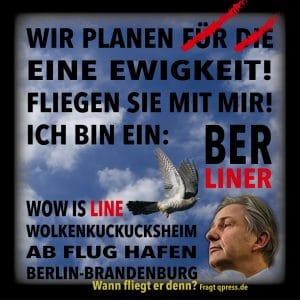 Klaus Wowereit Matthias Platzeck BER Flughafen Berlin Brandenburg Desaster fliegen lassen