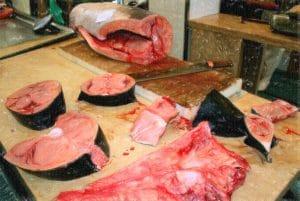 Thunfisch etwas blutiger