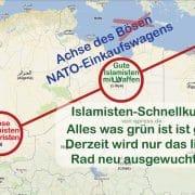 Achse des Boesen NATO Einkaufswagens Rohstoffe Mali