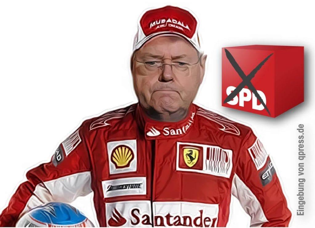 Saustall Politik - Macht jetzt ehrlich auf Formel 1 Peer Steinbrueck der Rennfahrer Formel 1 Politik Umstellung Parteien Rennstall