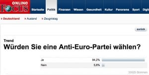 Deutschland verkommt zum Saustall, Volk leidet an Wahrnehmungsstörung Bildschirmfoto 2013-03-31 Focus Anti-Euro-Partei 15.00.08