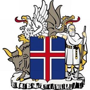 Wie Island den Euro rettete und nun im Medien-Sumpf ersoffen ist Coat_of_arms_of_IcelaWappen von Island