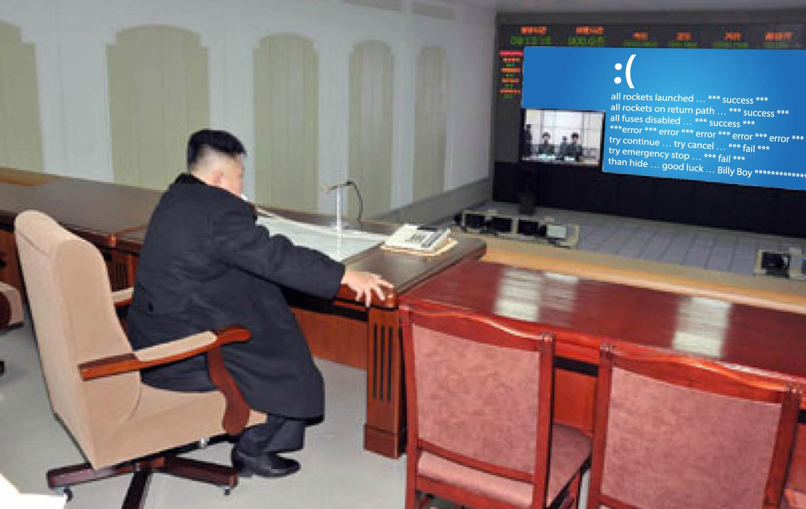 Kim Jong Un Microsoft fail Windows 8 rocket testing northkorea