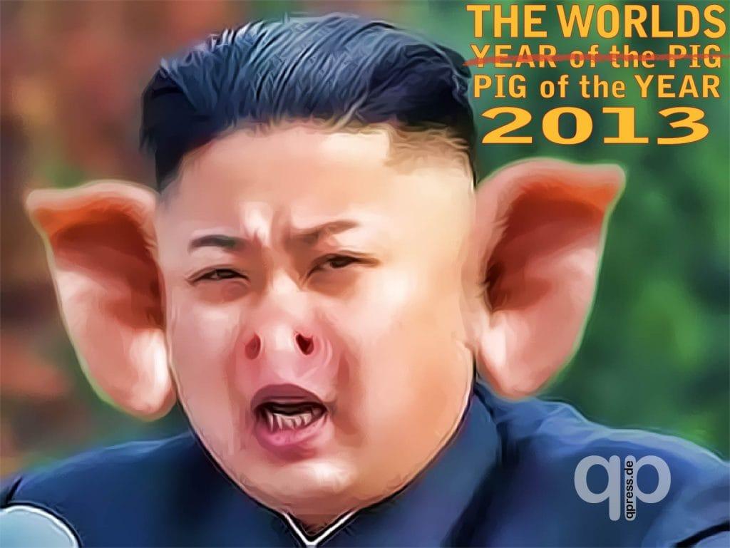 Kim Jong Un, des Westens jüngstes Glücksschwein Kim Jong Un PIG Schwein Nordkorea Diktator
