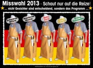 Misswahl 2013 Bundestagswahl Metzger Schlachter