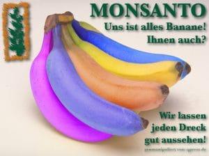 Herbizid, Pestizid, Genozid: Glyphosat muss genehmigt werden monsanto_uns_ist_alles_banane_genfood_mafia