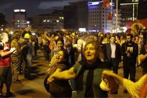 Taksim Platz tuerkei muetter und frauen istanbul protest aufruhr