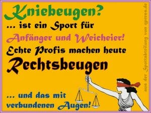 Justitia Kniebeugen Rechtsbeugen Profis gericht Recht Justiz Skandal