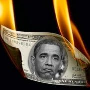 Obama is burning washington money US king of debt crisis