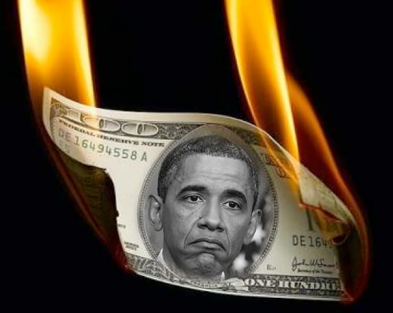 Geheimdokumente der Federal Reserve zur Nach Dollar Ära geleakt Obama is burning washington money US king of debt crisis