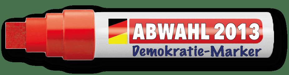 Abwahl 2013 Marker Bundestagswahl Landtagswahl nicht wahlboykott sondern richtig waehlen
