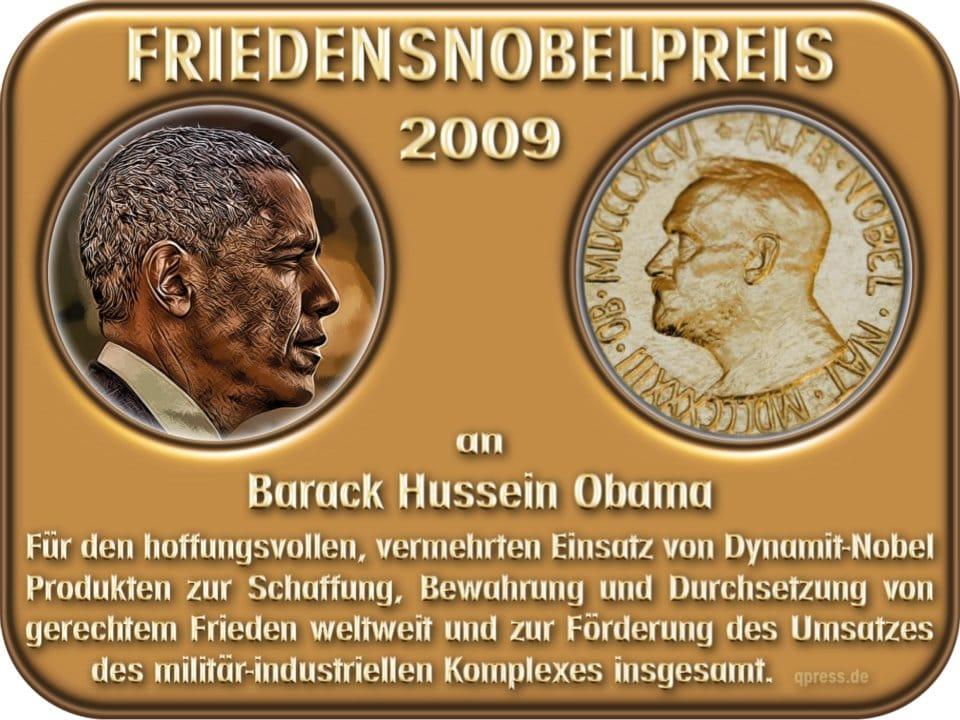 USA Strategiewechsel, schneller Giftgasangriff auf Israel oder al-Qaida in Syrien bombardieren Barack Obama friedens nobelpreis absatzfoerderung fuer dynamit-nobel-produkte