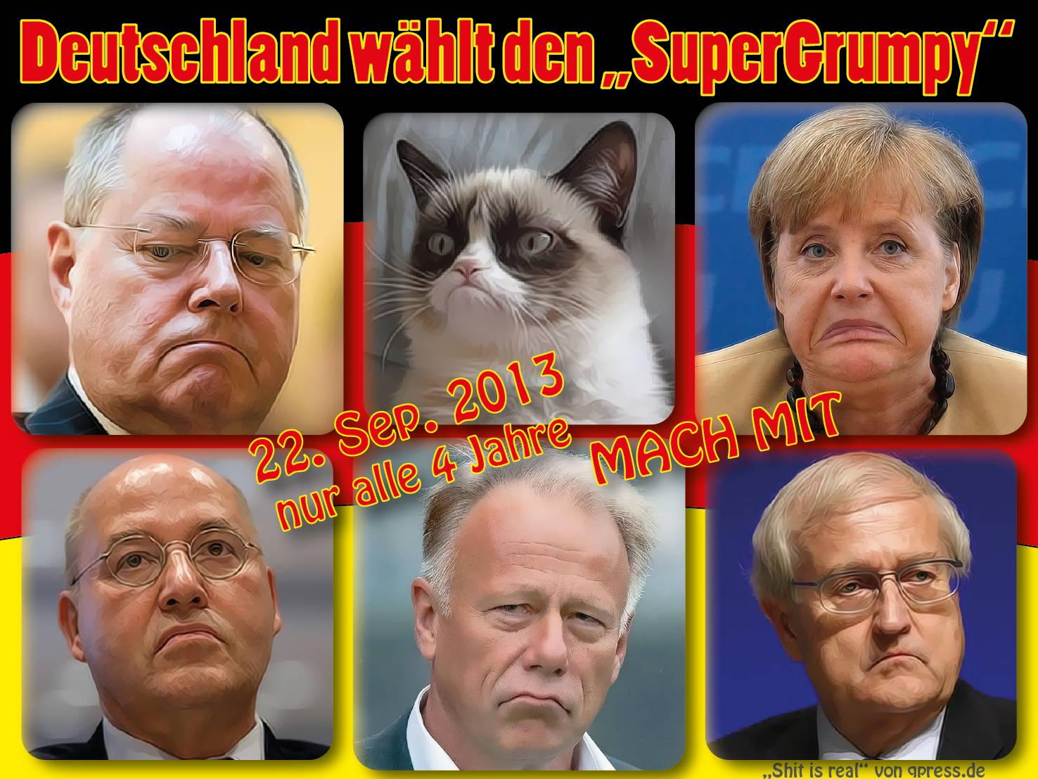 Überlebende der Wahl in Bayern berichten dsds_2013_btw_Bundestagswahl_grumpy_deutschland_sucht_den_supergrumpy_merkel_steinbrueck_gysi_trittin_bruederle_parteien_wahlzirkus