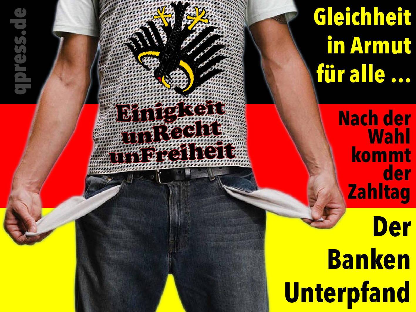 Das Kanzler-Duell, Hornberger Schießen mit 80 Millionen Betroffenen einigkeit_unrecht_unfreiheit_in_armut_deutschland_altersarmut_qpress