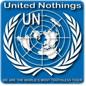 Syrien-Konflikt endgültig gelöst, finales Kriegskonzept ist sofort umsetzbar un_uno_nothings_logo_of_the_united_nations_qpress_toothless_tiger