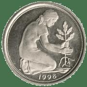 Wirtschafts-Nobelpreis Eklat, keine Ehrung für die Lösung der Welt-Finanzkrise BRD_muenze_50_pfennig_altes_Geld_deutsche_Mark geldpflanze