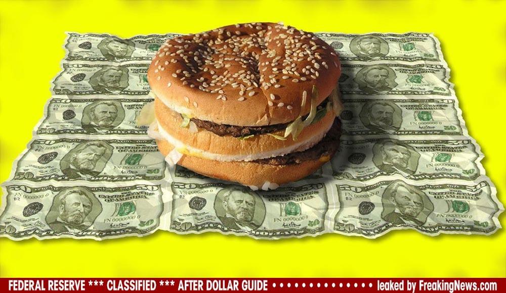 Dollar-Burger-Wrap-verpackung-papier-geld-einwickelpapier-dreck