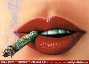 Dollar-Smoking-rauchen-geld verbrennen entwertung
