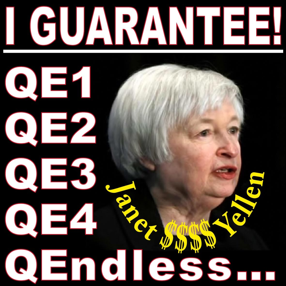 Obamas Mädel an der Druckerpresse, QE1-QE2-QE3-QEndless Yellen, Janet-new Governor chief Chairman of the federal reserve board fed in 2014