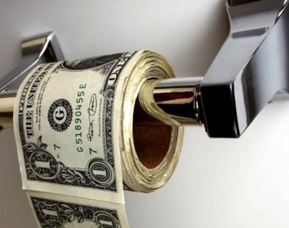 Geheimdokumente der Federal Reserve zur Nach Dollar Ära geleakt dollar-klopapier-entsorgung-faekalien-dreck-hintern-abwischen