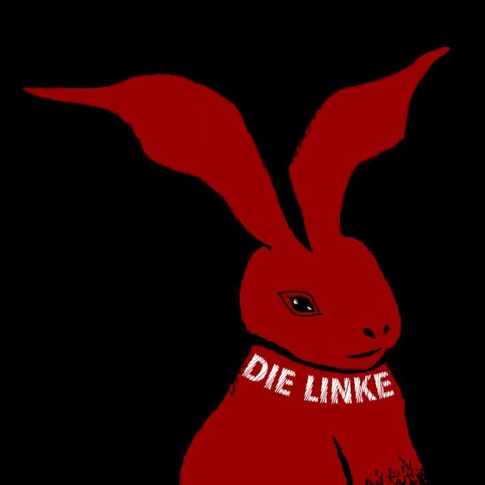 Das rote Kaninchen in Sigmar Gabriels Zauberhut Die Linke, Zauber Kaninchen aus dem SPD Hut Siegmar Gabriel Koalitionsverhandlung 2013 qpress