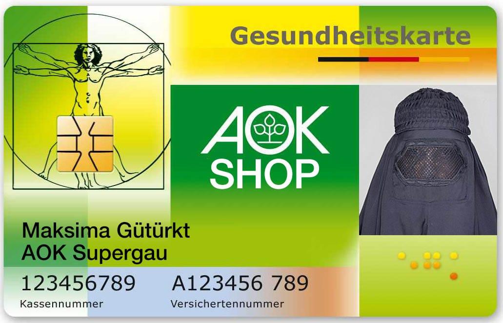 Muster_elektronische_Gesundheitskarte_Frau_weiblich_maxima_mit_Bild_AOK